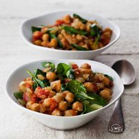 Chick Pea and Spinach Madras