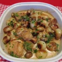 Chicken, Ham and Bacon Fricassee
