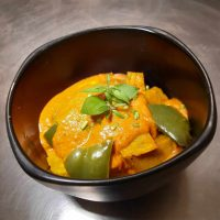 Roasted pumpkin & pepper curry