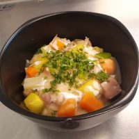 Ham hock and winter vegetable stew