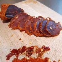 Air-dried Pork Fillet with Dried Red Chilli and Paprika Crust