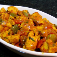 Balti Chicken with Green Peppers (spicy)
